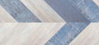 Пробковый пол Corkstyle Chevron Blue (click) 10 мм
